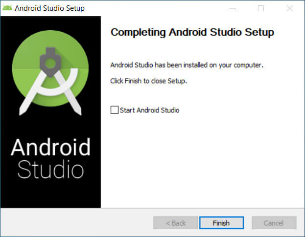 completing android studio setup