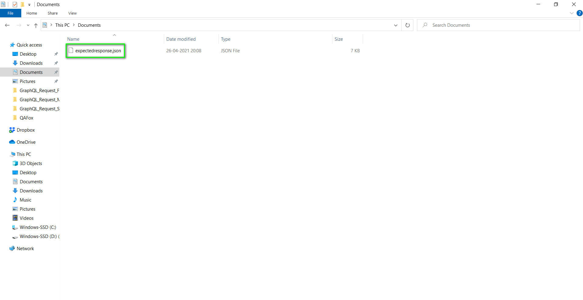 renamed the file to expected response in documents folder