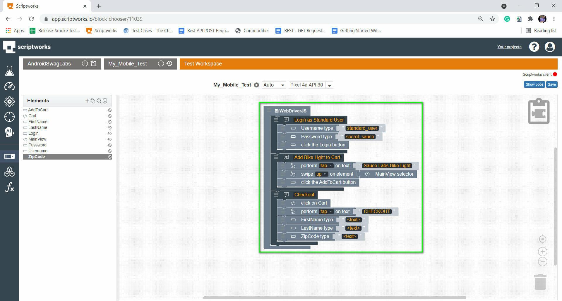 Screenshot of firstname,lastname etc