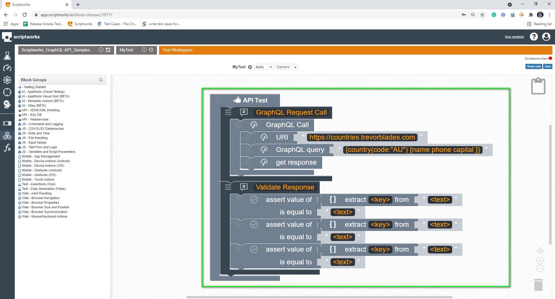 Put Multiple JSON Block into the Canvas