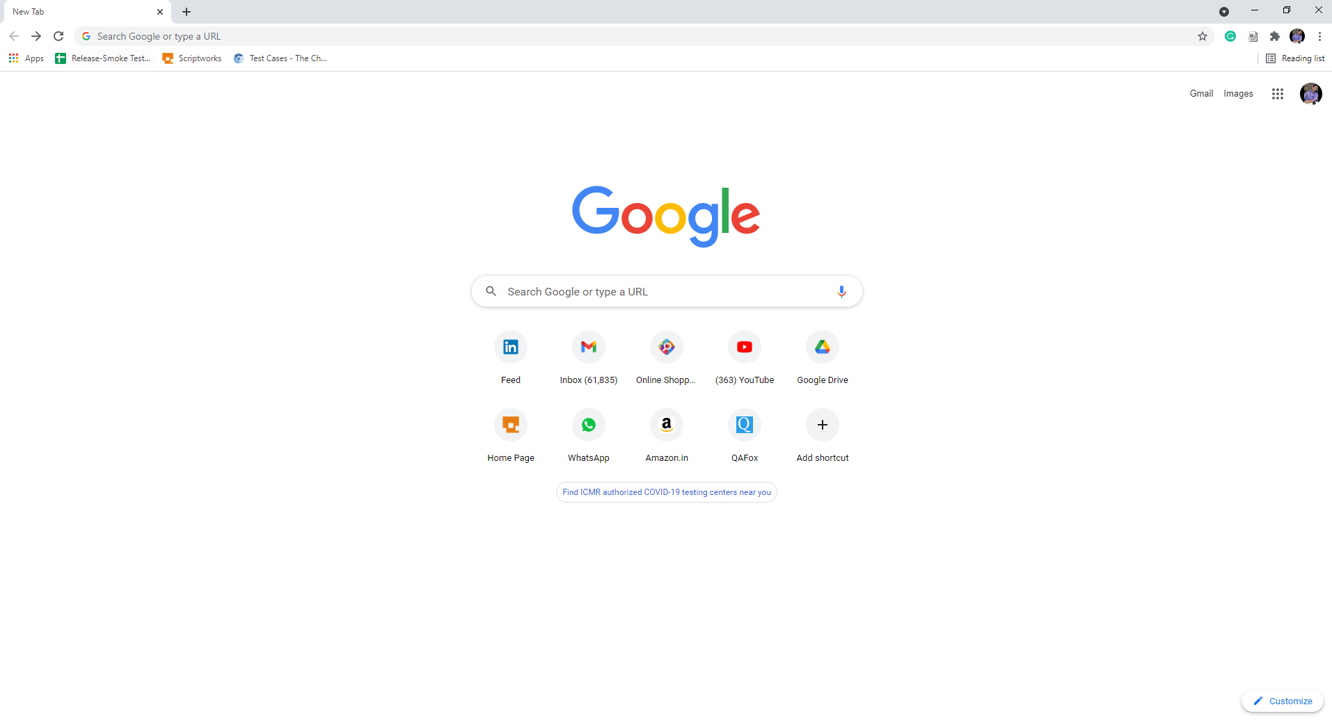 Navigate to any browser