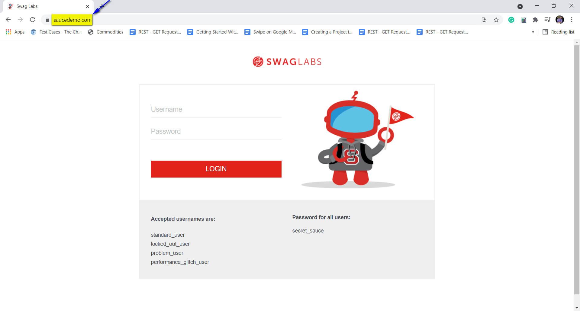 navigation to website